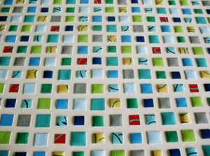 Patterned Mosaic Painting by James Melcher
