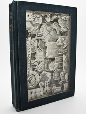 Webster's 7th Collegiate Dictionary circa 1971 carved by Julia Feld