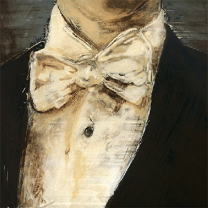 Bow Tie - oil on panel by Daniel Embree