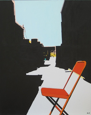 Orange Chair in Alley by Denee Black