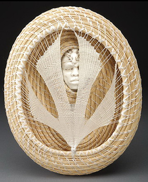 """Catching the Pale, Pale Moon"" by Fiber Artist Pamela Zimmerman"