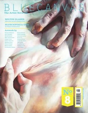 Blue Canvas Magazine Cover by Thayer and Van Patten