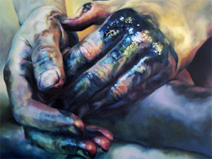 Chromatic Maladies V - part of a diptych by Cara Thayer and Louie Van Patten