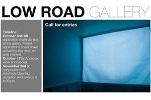 Learn more about the 4th Annual Juried Show from the Low Road Gallery!