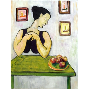 A Woman and her Apples by Julia Trops