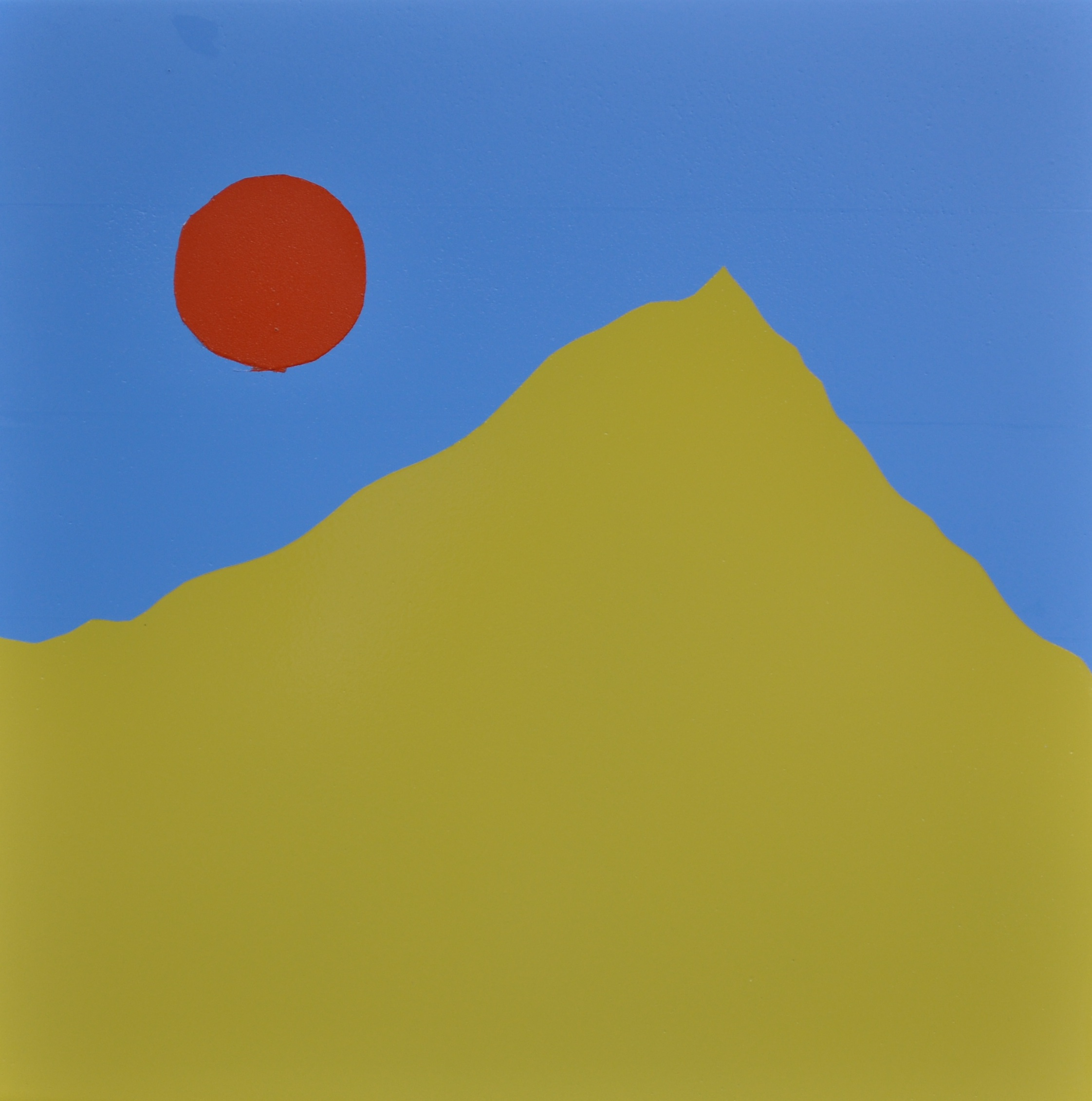 Yellow Mountain, Acrylic Painting by David Phillips Hodge