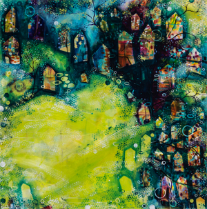 The Village by Featured Artist Painter Emily Mitchell!