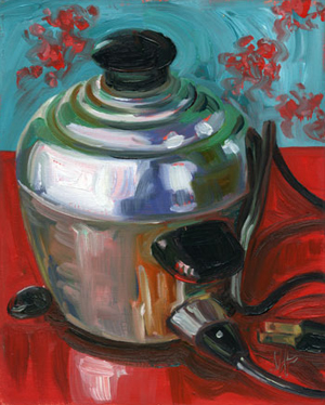 Stainless Steel Cooker of Eggs by Featured Artist Jennie Traill Schaeffer