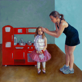 Kitchenette, Oil Painting by Kris Rehring