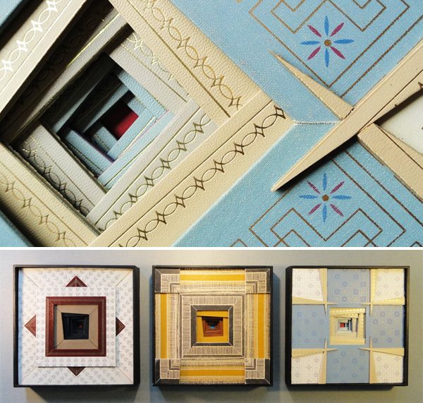 """""""Reliquary"""" detail (top) & triptych (below) by Aritst Emily Shane"""