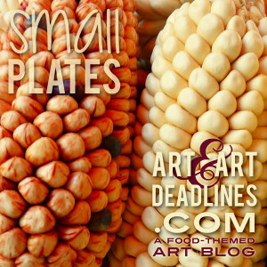 Learn more about the Small Plates exhibit from artandartdeadlines.com!