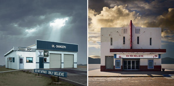(left to right) images from Desert Realty and Western Realty series by Ed Freeman