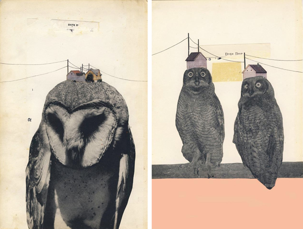 (left to right) Neighborhood 1 and 2, collage, by Hollie Chastain