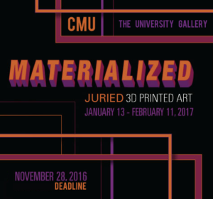 Learn more about the Materialized exhibit from The University Gallery at CMU!
