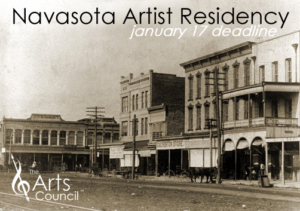 Learn more about the Navasota Artist Residency from the Arts Council of Brazos Valley!
