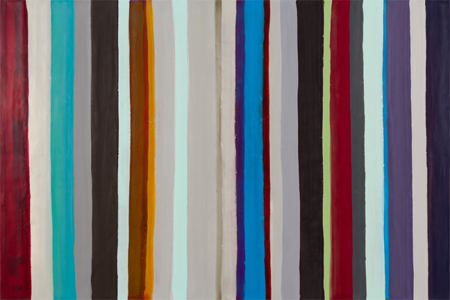 Hidden Life of Stripes 17, encautic, by Kathy Cantwell