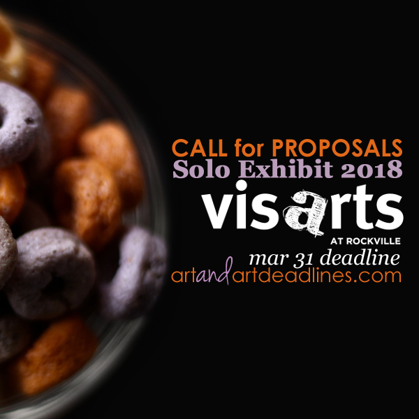 Learn more about the 2018 Solo Exhibit opportunity from VisArts!