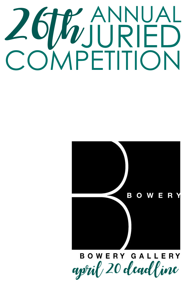 Learn more about the 26th Annual Juried Competition from the Bowery Gallery in New York, NY!