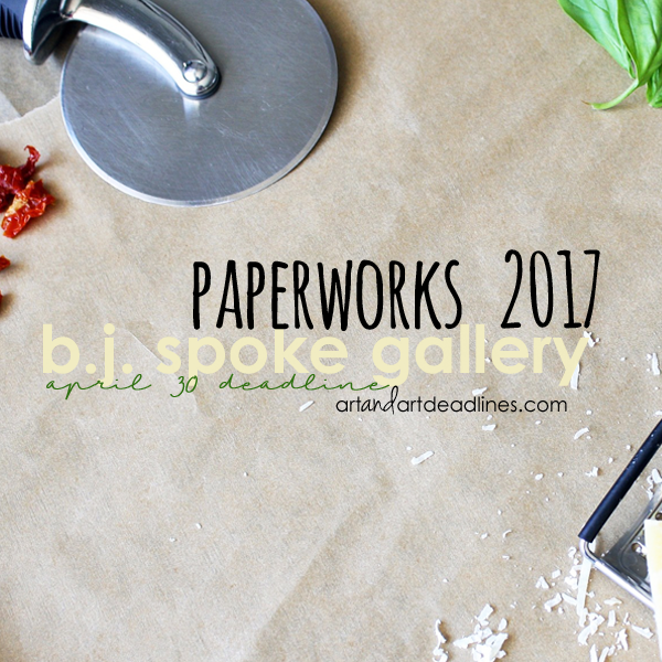 Learn more about the Paperworks 2017 exhibit from the bj spoke gallery!