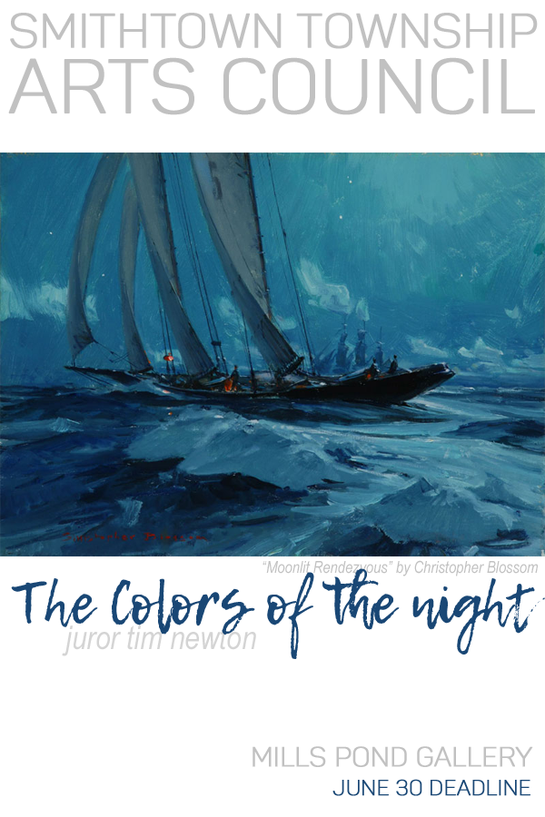 Learn more about The Colors of the Night exhibit at Mills Pond Gallery from Smithtown Township Arts Council!