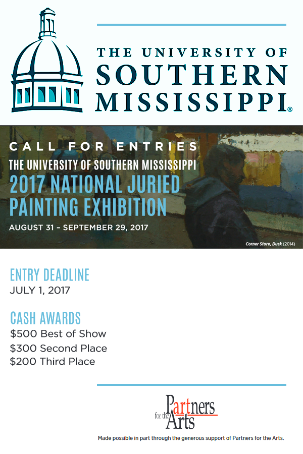 Learn more about the 2017 National Juried Painting Exhibition from The University of Southern Mississippi!