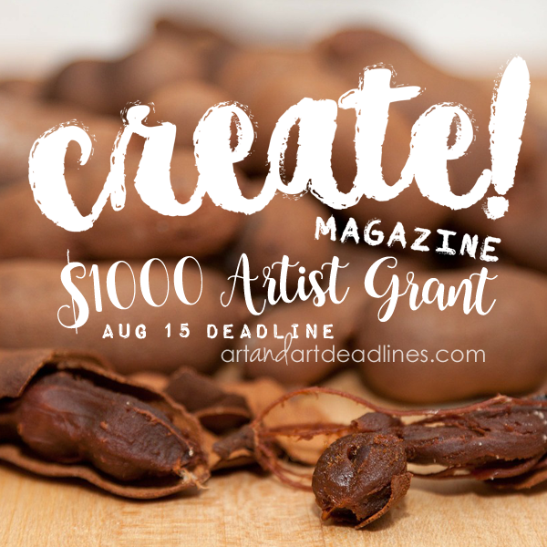 Learn more about the $1000 artist grant from Create Magazine!