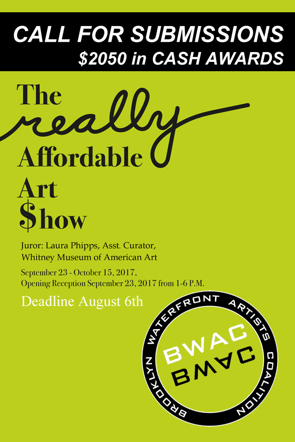 Learn more about the Really Affordable Art Show from BWAC!