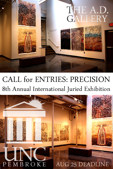 Learn more about Precision, the 8th Annual Juried show, from The A.D. Gallery at UNC Pembroke!