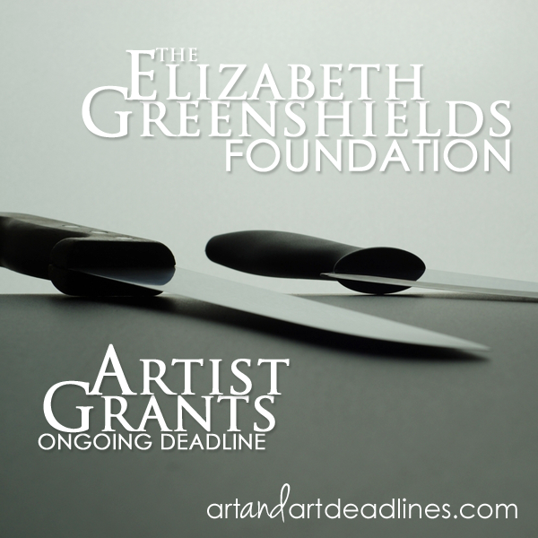 Learn more about available Artist Grants from the Elizabeth Greenshields Foundation!