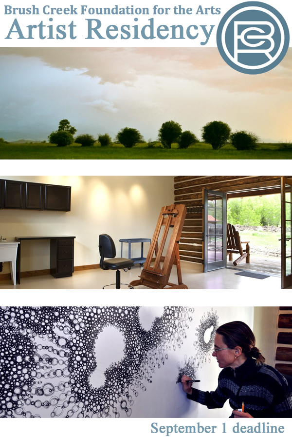 Learn more aout the Artist Residency from the Brush Creek Foundation for the Arts!