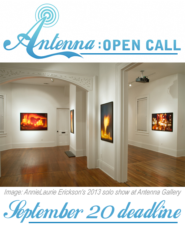 Learn more about the National / International Open Call 2018 from Antenna Gallery!