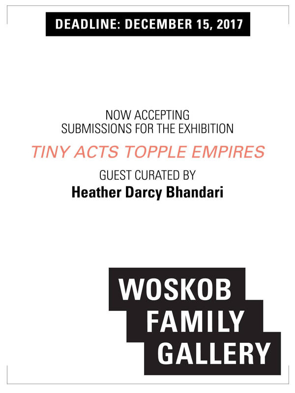 Learn more about Tiny Acts Topples Empires show from Woskob Family Gallery!